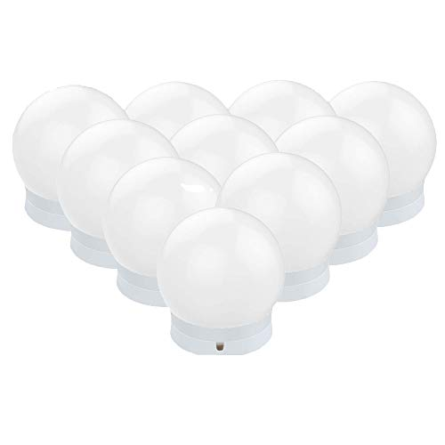 Sylvwin LED Spiegelleuchte, Hollywood Stil Schminklicht mit 10 Dimmbar Glühbirne,Schminktisch Leuchte,Schminkleuchte,Spiegellampe mit 3 Farbmodi für Schminkspiegel,Schminktisch und Kosmetikspiegel