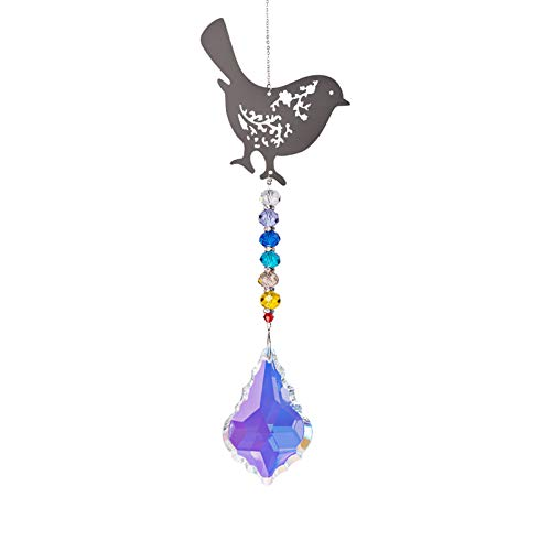 FISEYU Pendant Sparkling No Cracking Faux Crystal Drop Shape Hangings for Gift Wall Door DIY Pendant 2