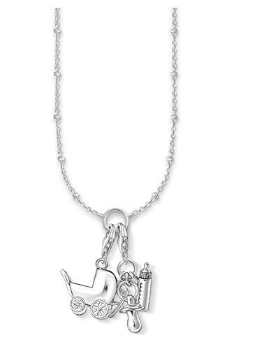 Naswi Collier à Breloques biberons, Mannequin et Chaussure, 2020 Nouveaux Bijoux de Mode Thomas 925 Bijoux en Argent Sterling Beau Cadeau pour Les Femmes Maman