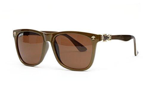 Catania occhiali occhiali da sole da donna (uv400) Stagione–occhiali da sole con custodia (uv400, UVA uvb), Donna, oliva premium
