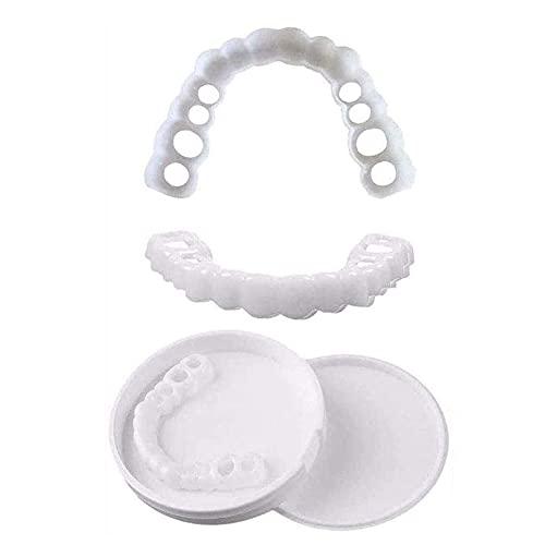 8 Paar Neptanden Veneers Snap in Teeth Veneers Kunstgebit Socket Voor Mannen En Vrouwen Cover De Imperfecte Tanden Geen…