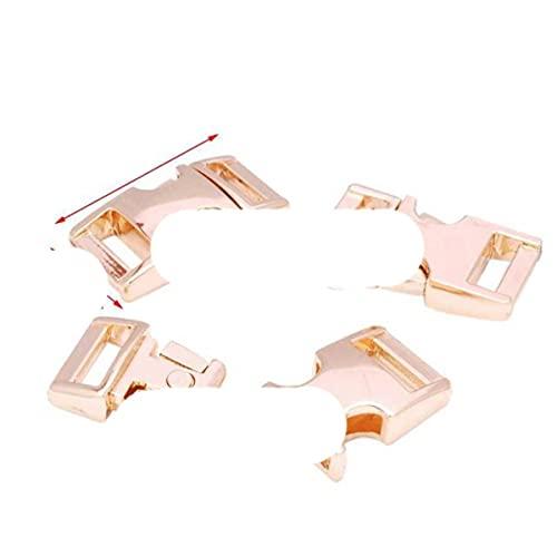 Hebilla de Metal de 10 mm, hebilla de clip, hebillas de liberación para bolsa, herrajes para correas, cinturón de bricolaje, accesorios de pulsera de Paracord, 50 piezas-RoseGolden
