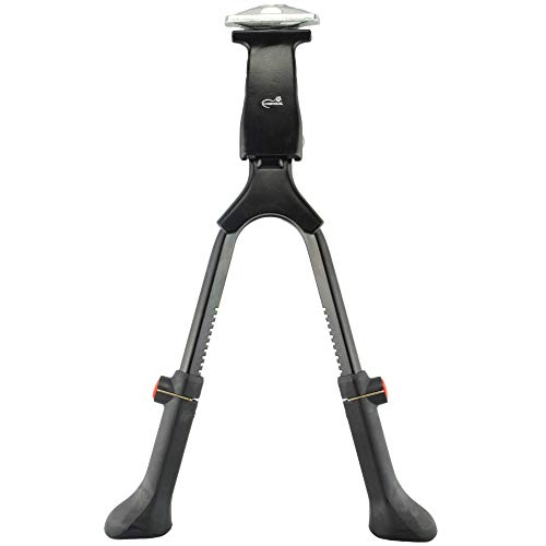 "Lumintrail Center Mount Double Leg Bicycle Kickstand Adjustable Aluminum Alloy Bike Stand fits 24""-28"" (Black)"