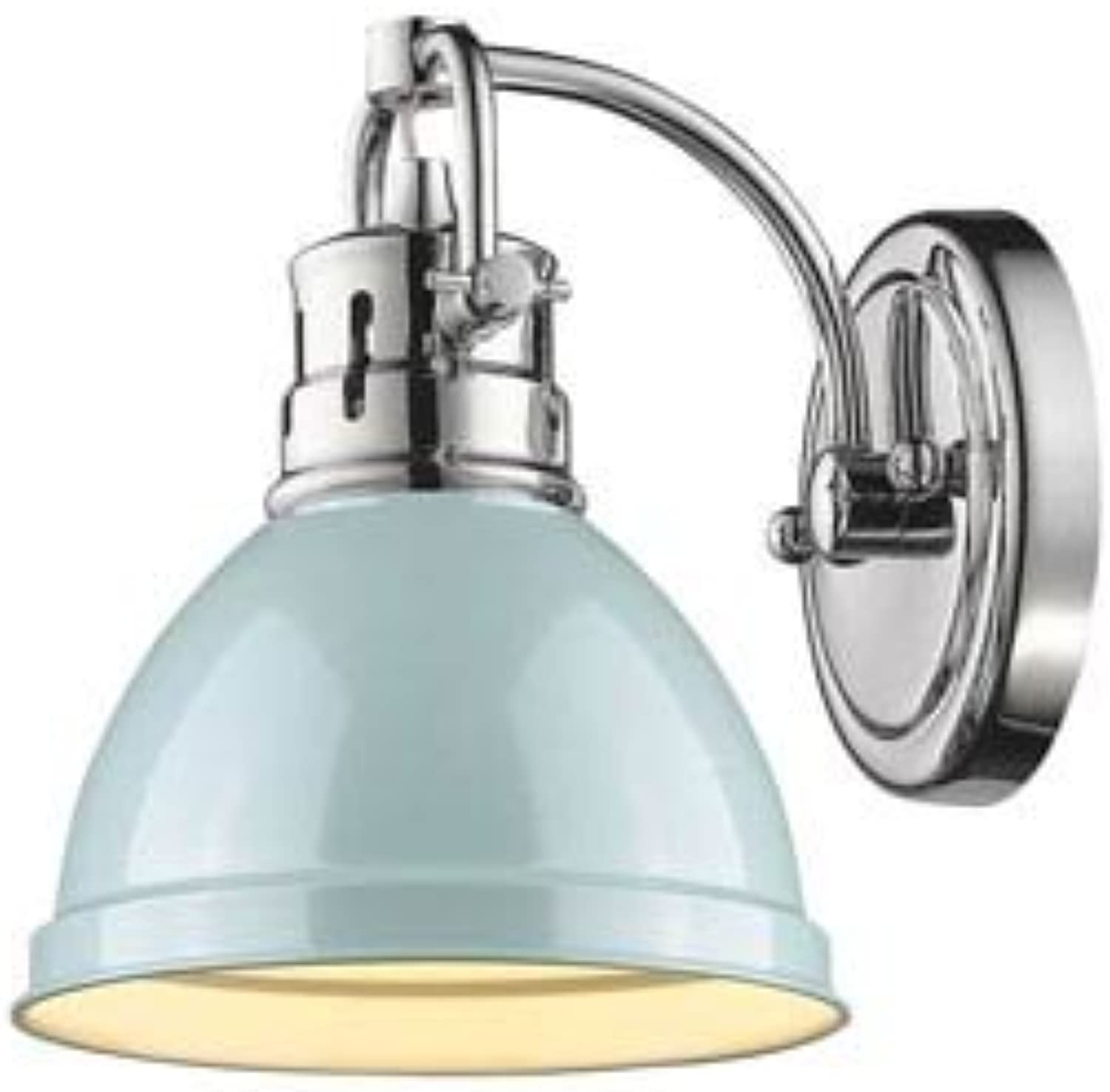golden Lighting 3602-BA1 CH-SF One Light Bath Vanity Chrome