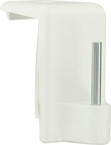 Support adhésif - Tringle ovale - Blanc spécial PVC - Vendu par 4