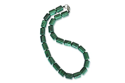 Vifaleno Malachit Halskette, Zylinder, 10x14mm