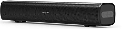 Creative Stage Air 20W Compact Multimedia Under Monitor USB-Powered Soundbar for Computer with Dual-Driver and Passive Radiator for Big Bass, Bluetooth and AUX-in, USB MP3 (Black)