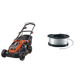 BLACK+DECKER Tondeuse 38 cm sans Fil, Tondeuse à Gazon Electrique 36V & Bobine de Rechange pour Coupe-Bordures, Bobine…