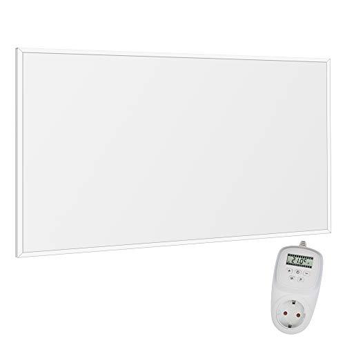 VIESTA F600 Pannello ad infrarossi per Riscaldamento Carbon Crystal (Tecnologia più recente) Ultrasottile, panneli radianti Bianco - 600 Watt Termostato TH12