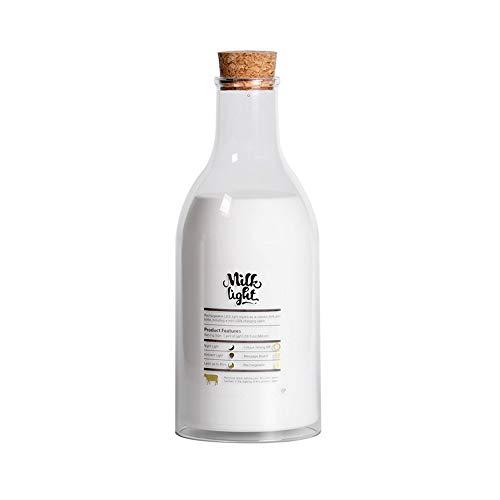 YGBH Botella de Leche Luz Nocturna APLICACIÓN + PC Lámpara de cabecera para amamantar con sueño asistido Función de Mensaje cálido Función de Control táctil Cronómetro (Blanco cálido)