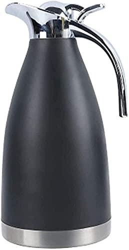 Cafetera europea de acero inoxidable de doble capa de aislamiento al vacío, olla de agua caliente (color: rojo, tamaño: 14 x 29 cm) (color: negro, tamaño: 14 x 29 cm)