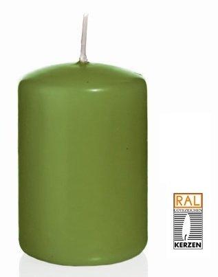 Olive Bougie Cylindre 60 x 30 mm, 40 pcs Bougies, de Belle qualité