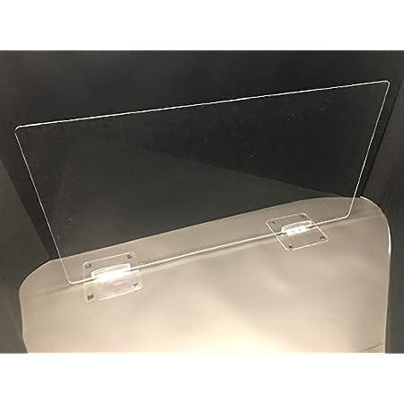 日研工業 飛沫感染防止対策 新型コロナウイルス感染防止対策用 卓上仕切り パーテーション W900×H450 1セット2台 スタンド付き 簡単設置 アクリル透明 オフィス カウンター 対面販売