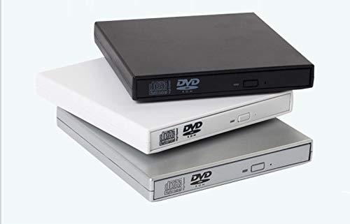 Super Amos USB3.0 Externes DVD/CD Laufwerk Brenner Slim Tragbar, für alle Laptops/Desktop z.B Lenovo,Acer,Asus; unter Windows und Mac OS für MacBook, MacBook Pro, MacBook Air, iMac-Schwarz