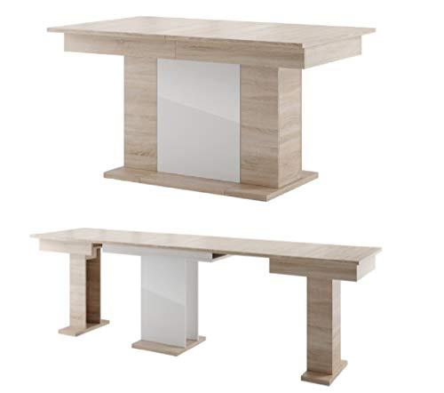 MPS Möbel groß praktisch Tisch Star 160-410 x 90 x 77 cm (L x B x H) für Esszimmer, 4-12 Personen Esstisch, ausziehbarer Tischplatte auf 410 cm, ausziehbar Küchentisch, Esszimmertisch