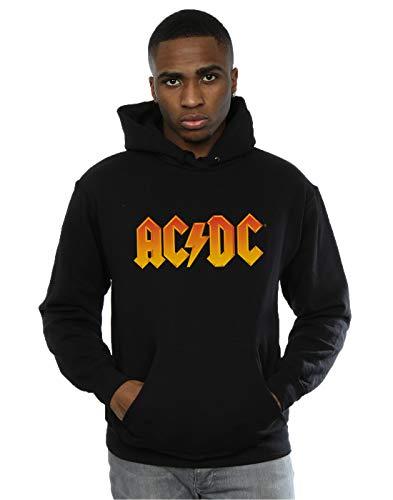 Générique AC/DC Homme Fire Logo Sweat à Capuche Small Noir