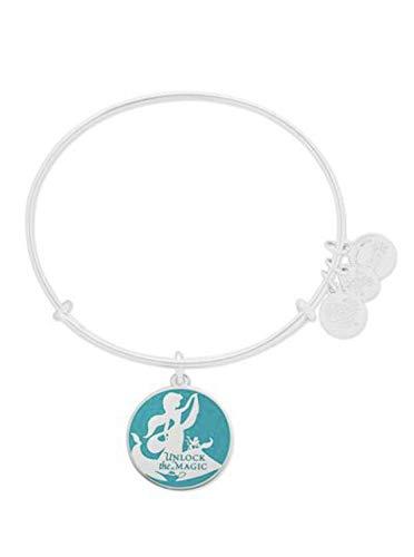 Alex and Ani Disney Parks Princess Jasmine Unlock The Magic Aladdin Bangle Bracelet (Silver)