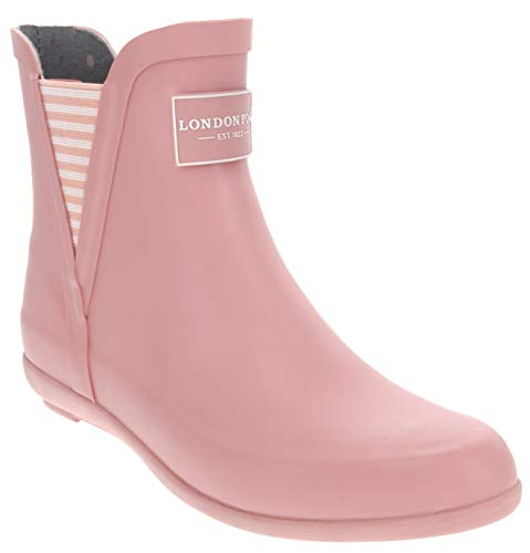 LONDON FOG Womens Piccadilly Rain Boot Pale Pink 7 M US