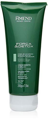 Pré-Shampoo Esfoliante Fortalecedor Amend Forca & Detox, Amend