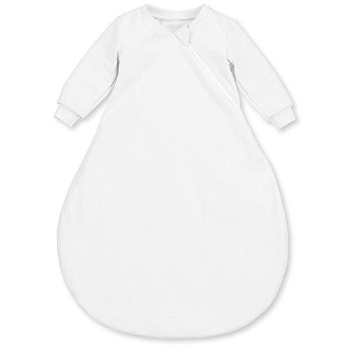 Sterntaler Leichter Schlafsack für Babys, Mit Ärmeln, Reißverschluss, Größe: 56, Weiß