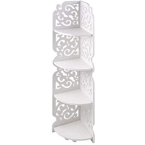 NanXi Duschregal Badregal Eckregal Dreieck Duschablagen DIY Wandregal Dusche Organizer ohne Bohren mit 4 Etagen für Badezimmer Küche Weiß