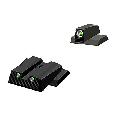 HIVIZ MPN121 Smith & Wesson NITESIGHT Front and Rear Handgun Sight Set from HIVIZ