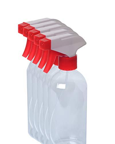 ÄUGEN GmbH | 5 STK a 500ml Sprühflasche | leer | Spray Bottle | Trigger | rot-weiß