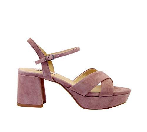 Luxury Fashion | Lola Cruz Dames 740P30VKV20MALVA Roze Suôde Sandalen | Lente-zomer 20