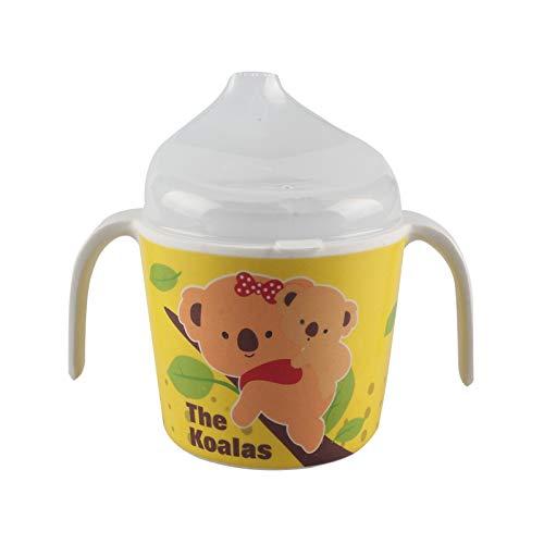 Tomedeks Tazza per bere per bambini, tazza per l'apprendimento, tazza con cannuccia con manico antiscivolo, lavabile in lavastoviglie