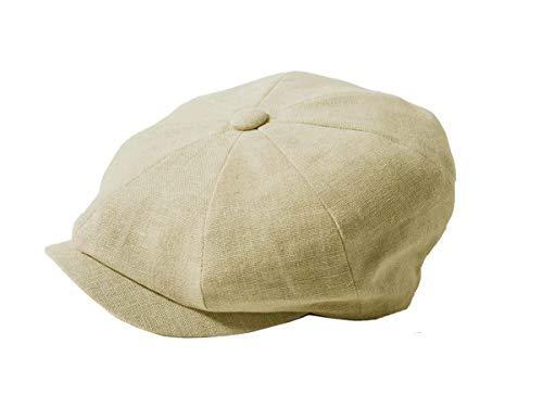 Failsworth Hats Alfie Newsboy Baker Boy - Gorra de lino (8 piezas), color natural