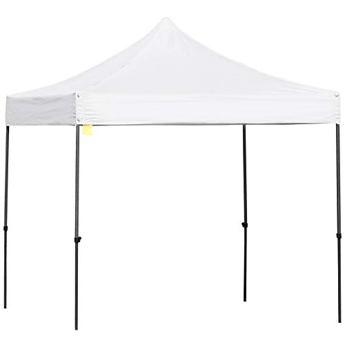 Outsunny 3m x 3m Pop Up Gazebo Marquee Party Tent Wedding Canopy Adjustable Height with Carrying Bag, Sandbag – White