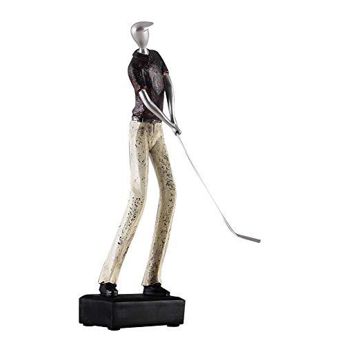 Sdfif Creative Golf Ornamenti Scultura, Nordic Retrò Resina Decorazioni per la Casa Soggiorno Persone Ufficio Regali Morbide Decorazioni C H 40 cm