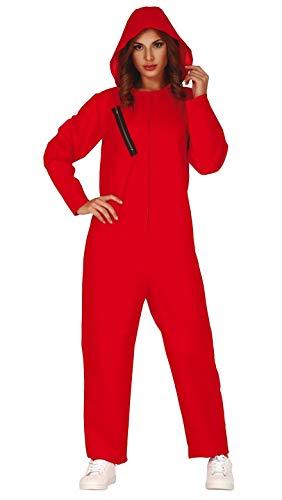 Guirca 88690 Disfraz Mono Rojo ConvictoT38-40, Adultos Unisex, Multicolor, Talla 38-40