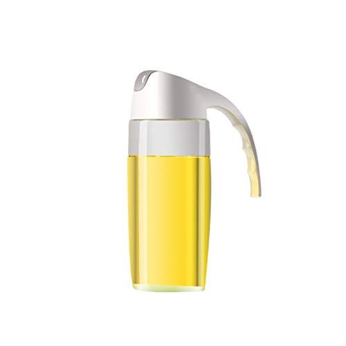 300 / 630ml Botella de vidrio de aceite Tarra APER ABIERTO Tapa Soy Sauce Condimento Condimento Dispensador Vineral Olive Honey Storage Cocina Gadgets (Color : 600ml Non Scaled)