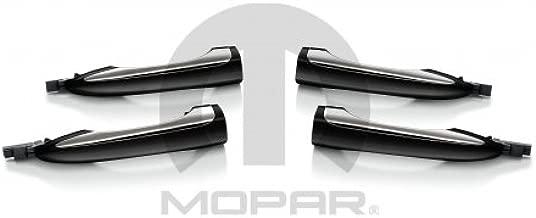 Mopar 82214700 Door Handles, Black and Chrome, Set of Four, 4 Pack