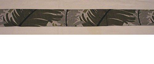 Handmade Door Draft Stopper Blocker Unfilled, Grey Foliage Neutral