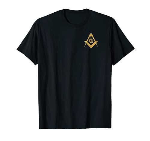 Masonic Square & Compass Freemason Lodge Emblem T-Shirt
