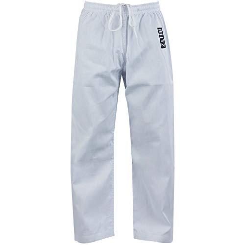 Blitz Unisex Karate-Hose, Polycotton, 0-130 cm, Weiß
