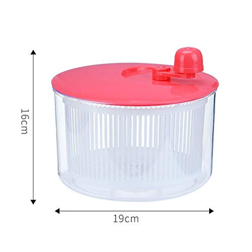 Ammily Salad Spinner Vegetables Leaf Lettuce Dryer Drainer Fruit Wash Clean Basket Plastic