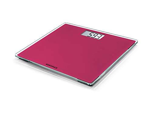 Soehnle Style Sense Compact 200, digitale Personenwaage, Think Pink, Gewicht bis zu 180 kg in präzisen 100 Gramm Schritten, Waage inkl. Batterien, Körperwaage mit extraflachem Design, pink