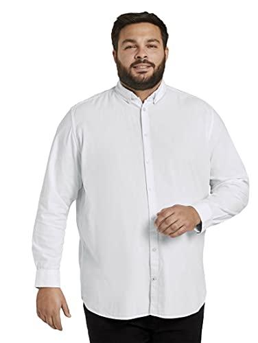 TOM TAILOR Men+ Herren Oxford Basic T-Shirt, 20000-White, XXXXL