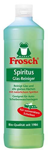 Frosch Spiritus Glas Reiniger, Glasreiniger für streifenfreien Glanz, 1er Pack (1 x 1000 ml)