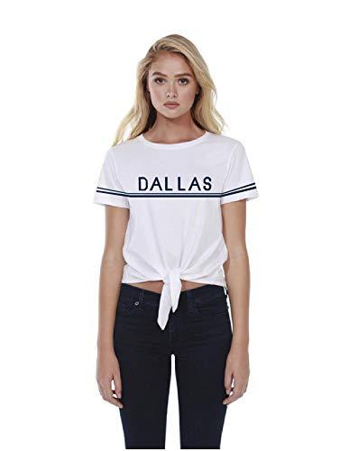 NFL Dallas Cowboys Womens Vintage Stripe Short Sleeve Tee, WHT, Medium