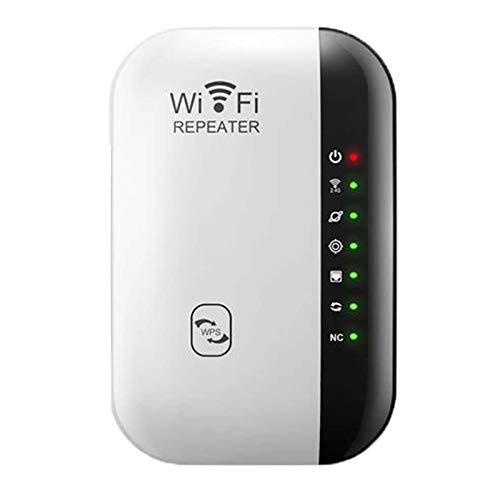 Repetidor WiFi, ampliador de rango WiFi, 300 Mbps, multifunción, amplificador de señal inalámbrica, amplificador de señal de red inalámbrico, compatible con todos los dispositivos WLAN, color blanco