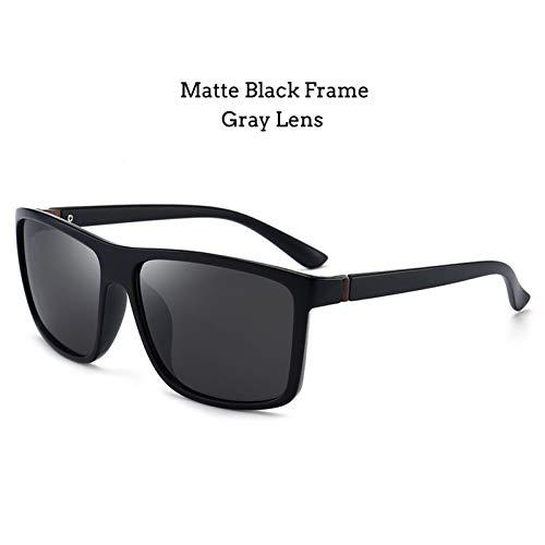 Shihuam zonnebril, gepolariseerd, vierkant, voor mannen, mooie spiegel