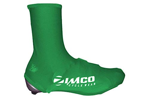 Zimco Lycra Cycling Bicycle Shoe Cover Booties Overshoes with Rear Zipper (Green, S/M)