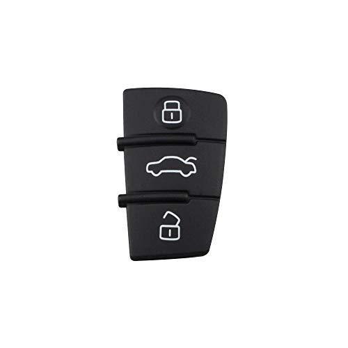 Cascara de Llave 3 Buttons Flip Car Key Remote Folding Key Cover Shell Case Key Car Key Shell,For Audi A2 A3 A4 A6 A6L A8 S5 Q7 TT-Pad_1PCS