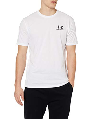 Under Armour 1326799 T-Shirt Homme - Blanc ((White/Black (100))) - L