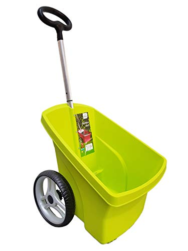 Schubkarre Karre 67 Liter Gartenkarre Transportkarre Gartentrolly Handwagen Laubkarre (grün)