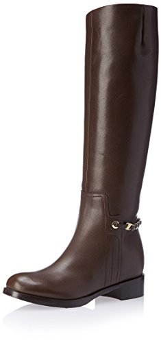 SALVATORE FERRAGAMO Damen Nando Tall Stiefel, (braun), 39 EU